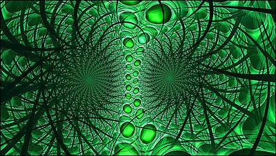 Digital Art - Artificial Intelligence Lime by Doug Morgan