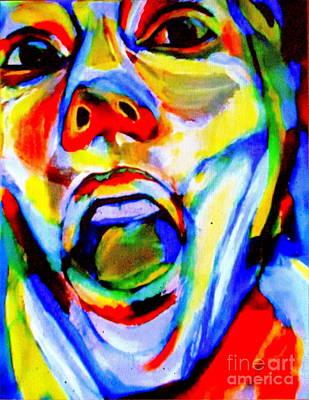 Painting - Artist Choking - Autoportrait by Helena Wierzbicki
