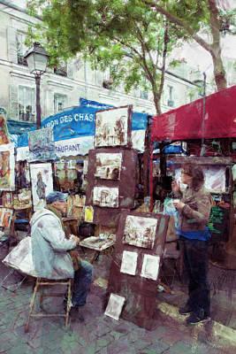 Photograph - Artist In Montmartre by John Rivera