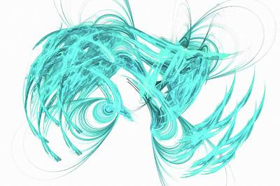 Surrealism Digital Art - Artistic Beauty Light Blue by Don Northup