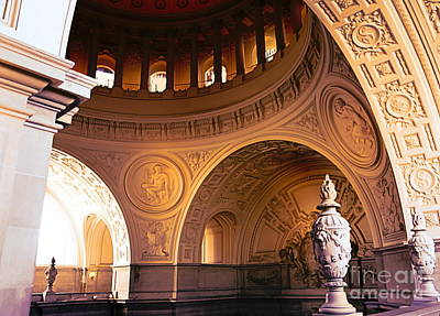 Digital Art - Artistic City Hall San Francisco Architecture  by Chuck Kuhn