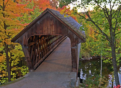 Photograph - Artistic Rendering Of Henniker Bridge by Paul Mangold