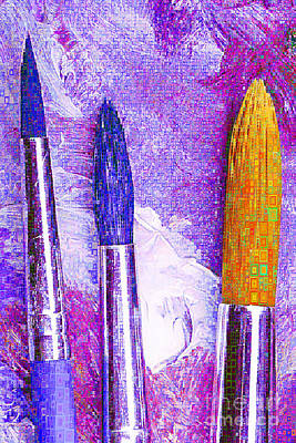 Photograph - Artists Brushes In Abstract Rectangles 20189218 V2 M150 by Wingsdomain Art and Photography