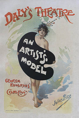Painting - Artists Model, 1896 French Poster by Julius Price