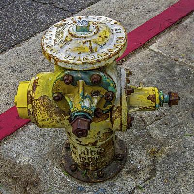 Wall Art - Photograph - Artsy Grunge Fire Hydrant by Roslyn Wilkins