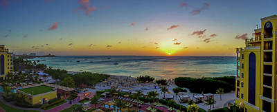 Photograph - Aruban Sunset Panoramic by Scott McGuire