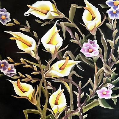 Painting - Arum Lily Artistic Floral Design by Taiche Acrylic Art
