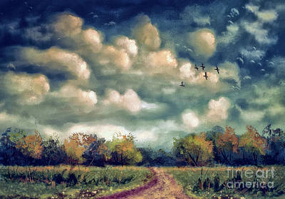 Digital Art - As August Slips Into Autumn by Lois Bryan