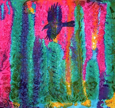 Painting - As The Crow Flies by Marie Stone Van Vuuren