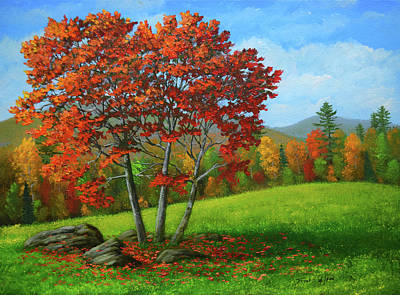 Painting - As The Leaves Turn by Frank Wilson