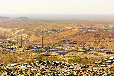 Photograph - Asarco Smelting Site El Paso by SR Green