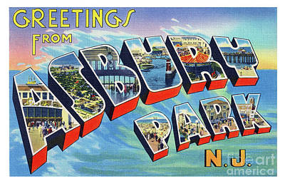 Photograph - Asbury Park Greetings by Mark Miller