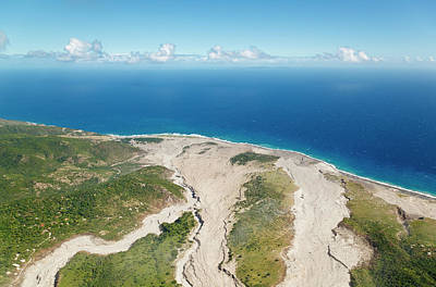 Antilles Photograph - Ash Flows At Soufriere Hills Volcano by Michaelutech