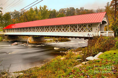 Photograph - Ashuelot River Crossing by Adam Jewell