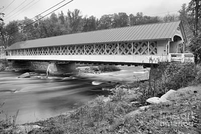 Photograph - Ashuelot River Crossing Black And White by Adam Jewell