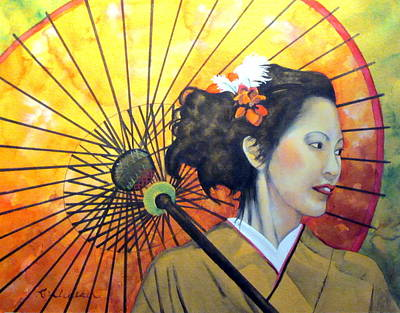 Asian Beauty Watercolor Original