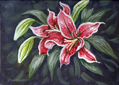 Painting - Asian Lily Sketch by Richard De Wolfe