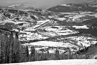 Photograph - Aspen Airport In The Rockies Black And White by Adam Jewell