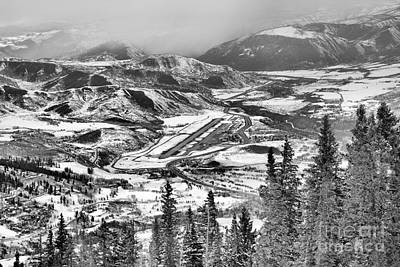 Photograph - Aspen Airport Over The Pines Black And White by Adam Jewell