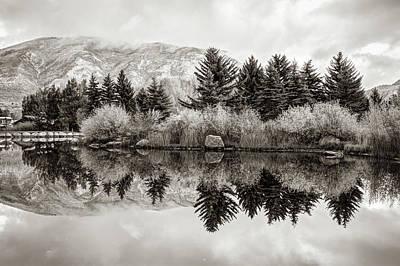 Photograph - Aspen Colorado Mountains And Sepia Reflections by Gregory Ballos