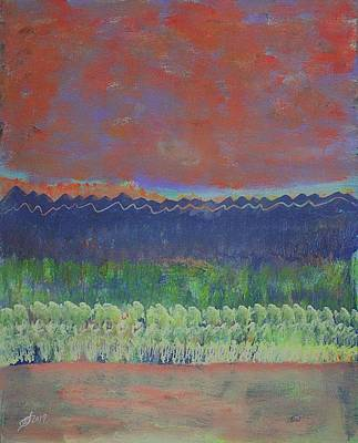 Painting - Aspen Grove Original Painting by Sol Luckman