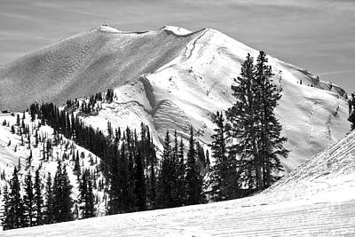 Photograph - Aspen Highlands Peak Black And White by Adam Jewell