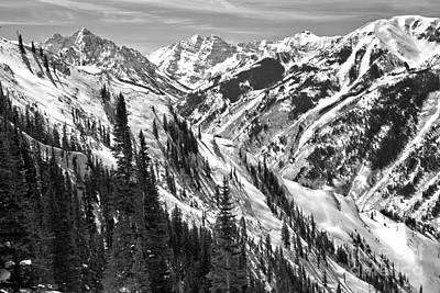 Photograph - Aspen Peaks Above The Treeline Black And White by Adam Jewell