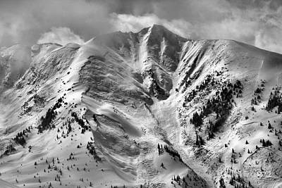 Photograph - Aspen Snowmass Avalanche Chutes Black And White by Adam Jewell