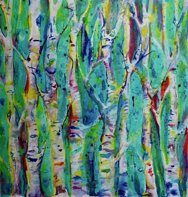 Painting - Aspens Pop by Beverley Harper Tinsley