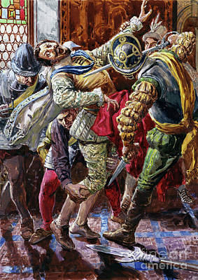 Painting - Assassination Of Henry I, Duke Of Guise, By The Bodyguard Of King Henry IIi, 1588 by CL Doughty