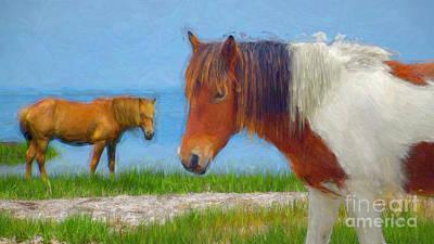 Mixed Media - Assateague Pony #1 by Susan Lafleur