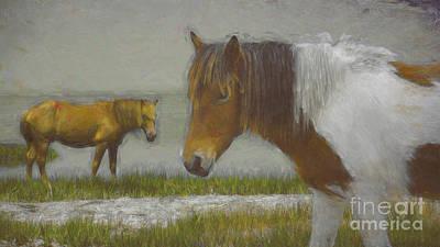 Mixed Media - Assateague Pony #2 by Susan Lafleur