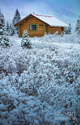 Photograph - Assiniboine Hut by Inge Johnsson