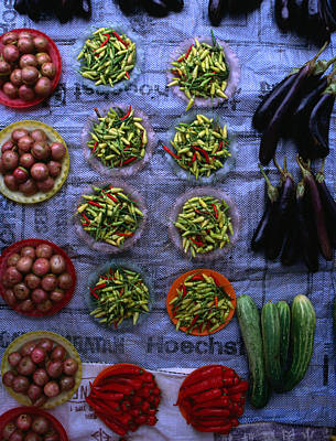 Photograph - Assortment Of Local Produce At The by Mark Daffey