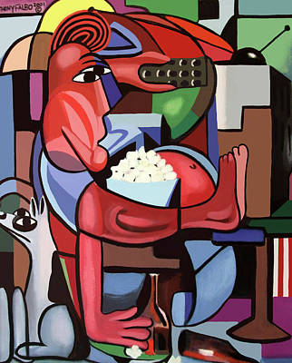 Beer Paintings - Assuming The Position by Anthony Falbo