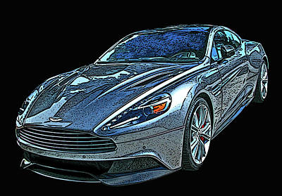 Photograph - Aston Martin Db9 by Samuel Sheats