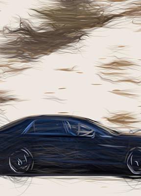 Thomas Kinkade Royalty Free Images - Aston Martin Lagonda  17870 Royalty-Free Image by CarsToon Concept