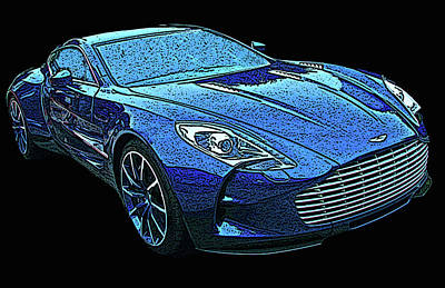 Photograph - Aston Martin One 77 by Samuel Sheats