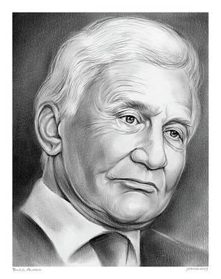 Drawings - Astronaut Buzz Aldrin by Greg Joens