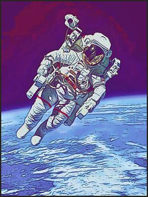 Digital Art - Astronaut by Gary Grayson