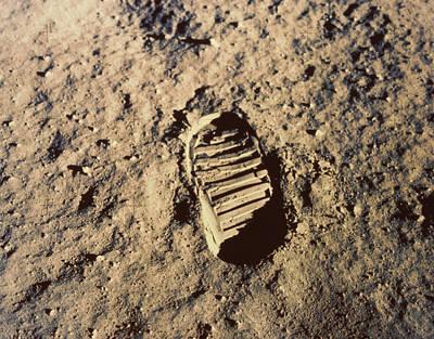 Photograph - Astronauts Footprint On Moon by Stocktrek