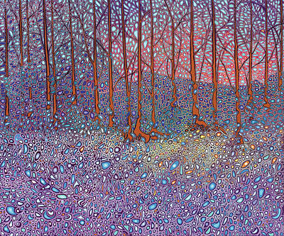 Foliage Particulates Series paintings by Karen Williams-Brusubardis 5x7 Blank Cards