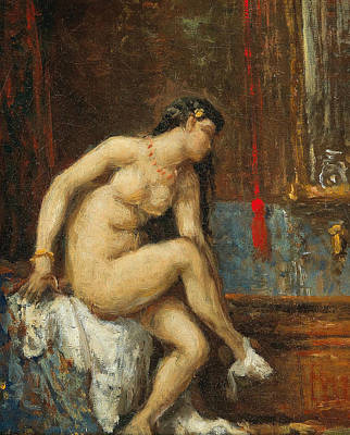 Painting - At Her Toilette by Theodore Chasseriau