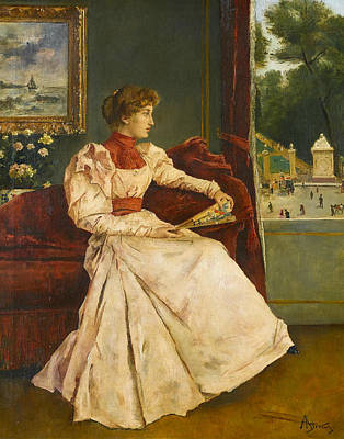 Painting - At Home by Alfred Stevens