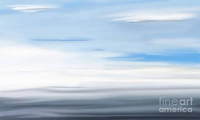 Digital Art - At Sea by Jan Brons