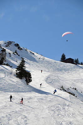 Photograph - At The Idealhang In Skiarea Brauneck by Thomas Stankiewicz / Look-foto