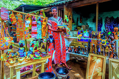 Photograph - At The Market In Hdr Detail by Debra and Dave Vanderlaan