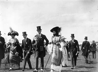 Photograph - At The Races by Hulton Archive