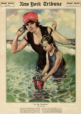 Drawing - At The Seashore 1919 by Aapshop