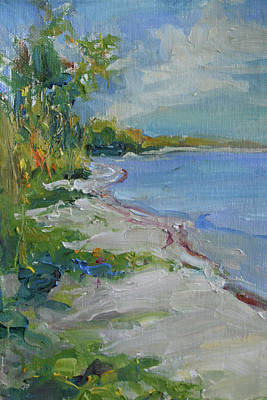 Wall Art - Painting - At Waters Edge by Kathryn McMahon